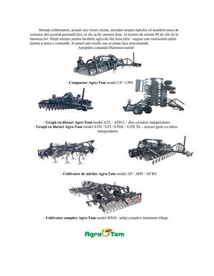 Combinator agricol- Compactor fix - purtat/tractat - Agro-Tom model UP 3 - livrabil imediat! - imagine 11