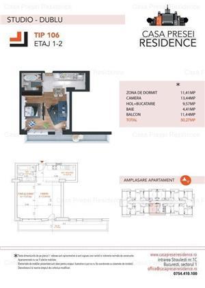 Studio dublu 59.900 euro Herastrau  - imagine 5