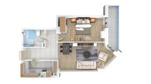 2 camere lux in Ansamblul Solid Residence Mamaia Butoaie - imagine 3