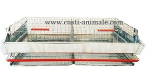 Cusca pentru prepelite ouatoare 50 pasari 90x50x25 cm - imagine 4