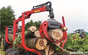Remorca forestiera Krpan  - imagine 3