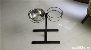 Suport castroane (boluri) hrană și apă câini și pisici - imagine 3