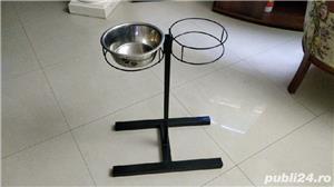 Suport castroane (boluri) hrană și apă câini și pisici - imagine 2