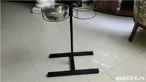 Suport castroane (boluri) hrană și apă câini și pisici - imagine 1