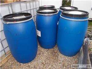 Butoi plastic, 200 litri la Oradea, 100Lei, cu capac mare - imagine 3