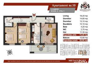 Ultimul apartament 3 camere 5 minute de metrou  - imagine 1