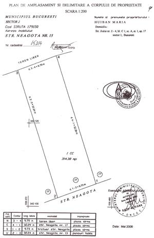 Petricani str. Neagota teren intravilan  314mp,deschidere 10m ,200E/mp - imagine 2