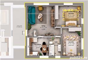 Ap.nou si complet decomandat, etaj intermediar, loc de parcare -Selimbar - imagine 3