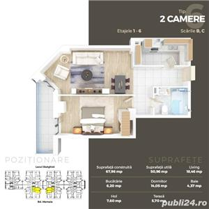 2 camere lux in Ansamblul Solid Residence Mamaia Butoaie - imagine 1