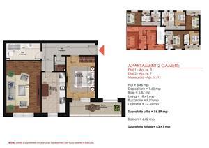 Apartament 2 Camere -  Direct Dezvoltator - imagine 1