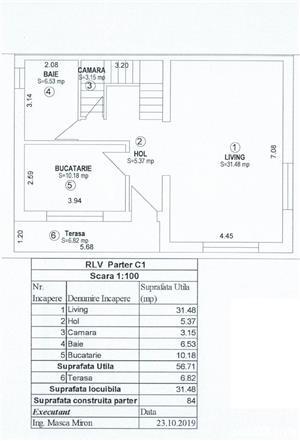 Dezvoltator casa duplex 4 cam 2 bai 120 mp intabulat la gri Selimbar - imagine 11
