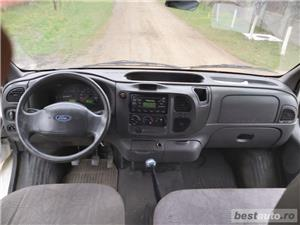 Ford transit BASCULABIL cabina dubla 7 LOCURI 2.4  - imagine 6