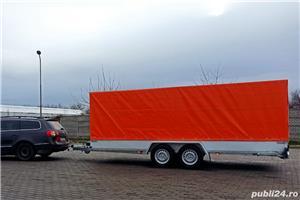 de inchiriat trailer dublu platforma transport doua auto remorci cu prelata auto moto atv - imagine 10