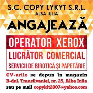 COPY KIT Alba Iulia angajeza OPERATOR XEROX - imagine 1