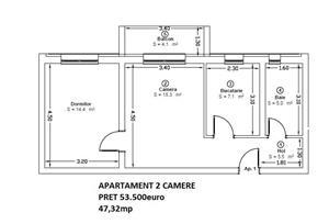 Nou 2 camere in Ansamblu Rezidential intr-o zona de lux  - imagine 2