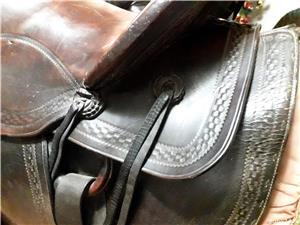 Vând șa pentru călărie din piele naturală culoarea maron - imagine 3
