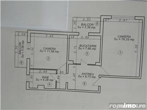Dorobantilor,apt cu 2 camere decomandate,et 3/4,51 mp,pret 69.000 euro - imagine 3