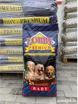 Hrană câini baby, Lobby Premium Baby 31% proteina, pui, orez, vitel, 20 kg - imagine 2