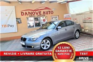 BMW Seria 5 Revizie + Livrare GRATUITE, Garantie 12 Luni, RATE FIXE, 3000 Diesel, Automat, 217 cp BMW Seria 5 Revizie + Livrare GRATUITE, Garantie 12 Luni, RATE FIXE, 3000 Diesel, Automat, 217 cp 2004 , cutie de viteză Automata, Euro 4. Oferit de Persoana fizica.